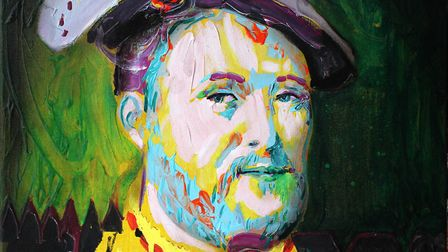 Henry VIII - oil on canvas Credit: Will Teather