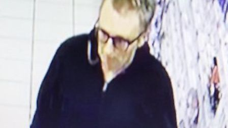 The man police want to trace following a theft from Superdrug in Chapelfield, Norwich. Photo: Norfol