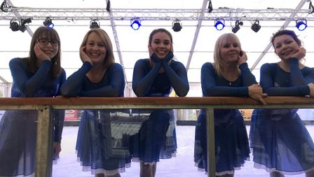 The skating team, ice candy, who performed at the opening of the EDP's Ice Rink 2018