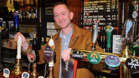 The Woodman on North Walsham road, Norwich. landlord Darren Reilly.Photo by Simon Finlay