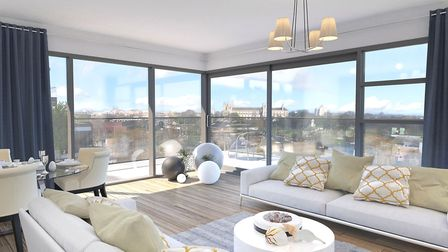 How one of the homes at the revamped Anglia Square could look. Pic: Weston Homes.