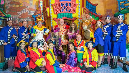 Norwich Theatre Royal's 2018 pantomime - Aladdin. The cast of the pantomime. Picture: Simon Finlay P