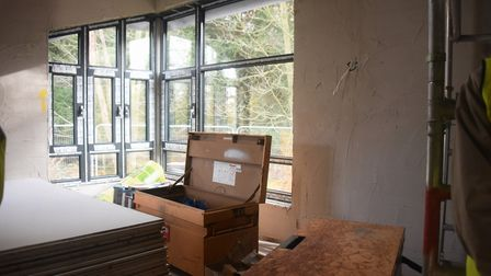 The Haven room inside the almost complete EACH children's hospice nook building at Framingham Earl.