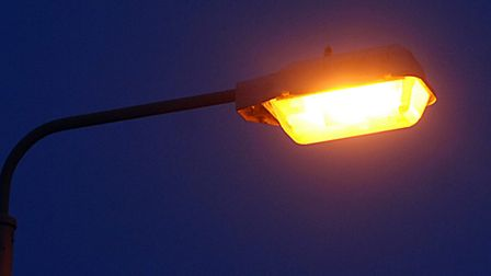 A street light in Norwich. The Norfolk County Council are considering turning off some street lights