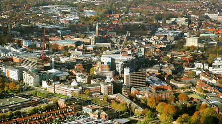 Aerial view Norwich by Mike Page. Picture: Mike Page