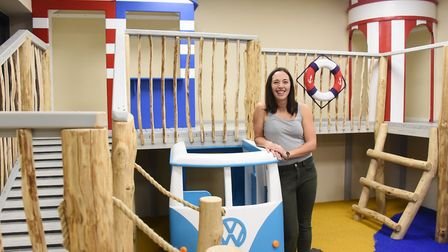 Owner Tirion Davies children's play area in the new Labyrinth Norwich laser tag arena she has opened
