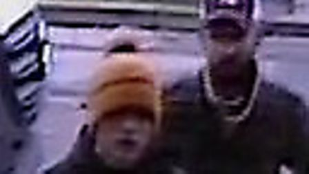 Police have issued CCTV images of men they would like to speak to after iPhones were stolen from the