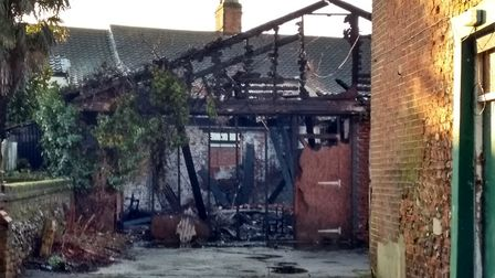 The fire was in a stable behind the former Magpie Pub in Norwich. Pictures: Victoria Pertusa