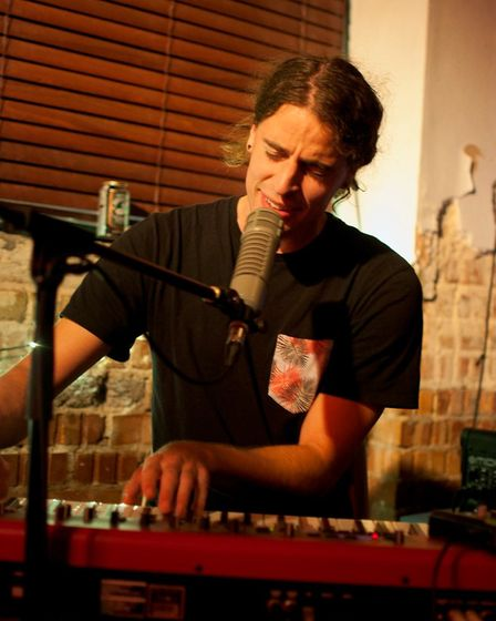 Tom Adams performing at The Birdcage in Norwich. Photo: Patrick Widdess