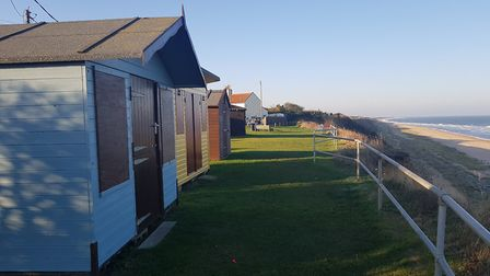 Ormesby with Scratby Parish Council is looking to place more beach huts along the clifftop at Scratb