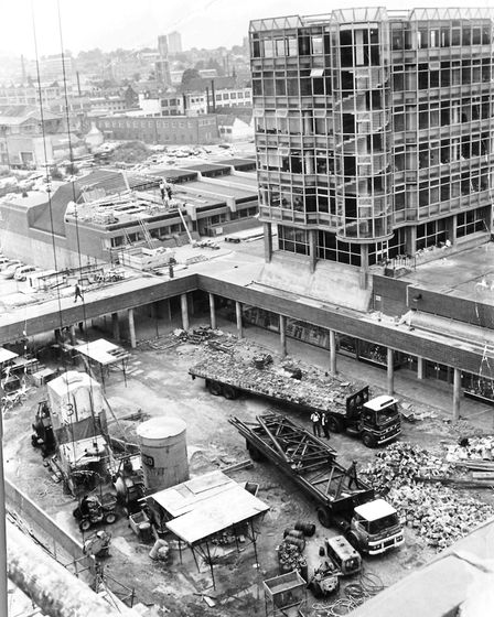 Anglia Square taking shape in 1970. Pic: Archant Library.