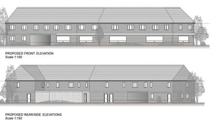 The front and back views of the building. Picture: Architectural Design and planning partnership