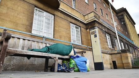 Homelessness in Norwich. Picture: ANTONY KELLY