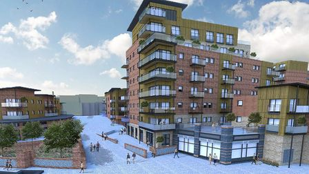An artist's impression of what the St Anne's Wharf development could look like when complete Pic: Ar