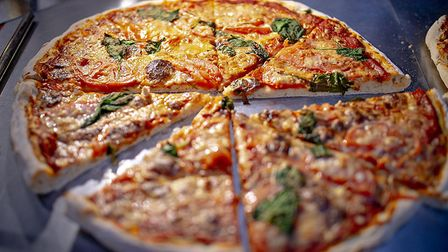 A vegan pizza from the One Planet Pizza company which is launching a takeaway service in Norwich. Pi