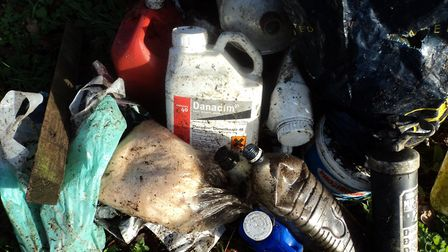 Hazardous chemicals found in a popular dog walking spot in Wicklewood. Photo: Nigel Ford