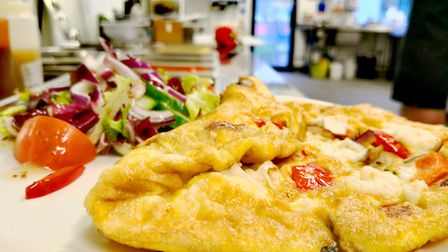 An omlette at the Sportscafe at the University of East Anglia's Sportspark in Norwich. Picture: SPOR
