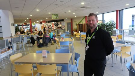 Alex Sellers, head of catering at the Sportscafe at the University of East Anglia's Sportspark in No