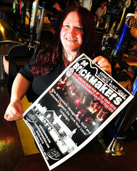 Brickmakers pub landlady Charley South. Picture: ARCHANT.
