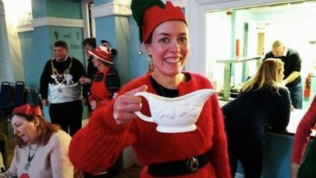 Christmas Day 2018 saw 100 local residents coming together for a free Christmas lunch in Swaffham As