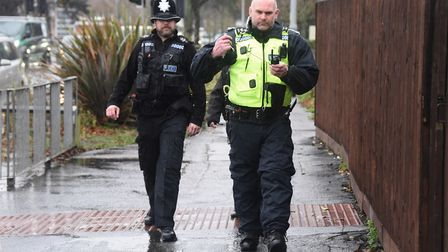 Police during an Operation Gravity drugs raid at a property on the Aylsham Road. Picture: DENISE BRA