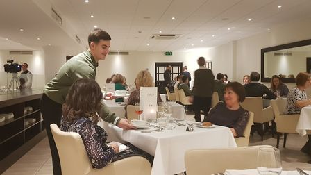 Norwich City Academy players hosted a Christmas meal. Photo: Norwich City