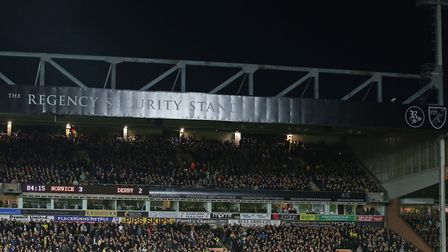The players leave the pitch due to floodlight failure during the Sky Bet Championship match at Carro