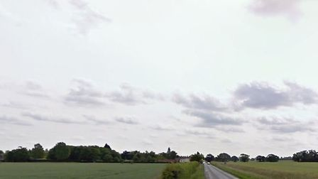 Police have closed off Mile Road near Bunwell following a two-vehicle crash. PHOTO: Google Maps