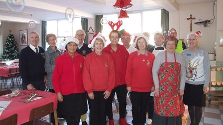 Swaffham Lions held their annual seniors Christmas lunch at the Sacred Heart Convent School. Picture