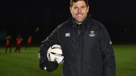 The new all weather football pitches at Ketts Park in Wymondham are opened by Grant Holt Byline: Son