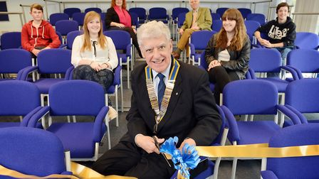 Swaffham Rotary Club donated £5,000 to buy 60 chairs for the Nicholas Hammond Academy lecture theatr