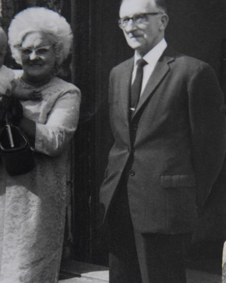 Sonja Gaffer's grandfather, Jack Platten, and grandmother, Edie May. Picture: Courtesy Sonja Gaffer