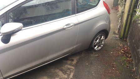 The car that was discovered in Norwich. Picture: Staff