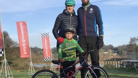 The Spauls family from Cringleford are keen cyclists and wanted to show their support for the new ev