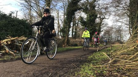 A beautiful winter's morning helped to bring lots of cyclists out to pedal around Whitlingham Broad.