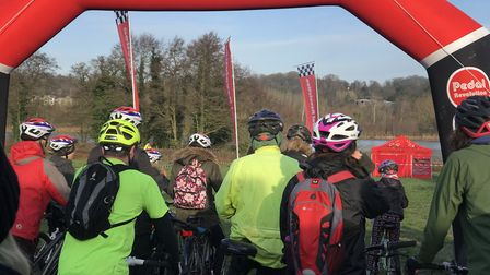 Ready for the off. Cyclists of all ages and abilities took part in the first ever Park Pedal event