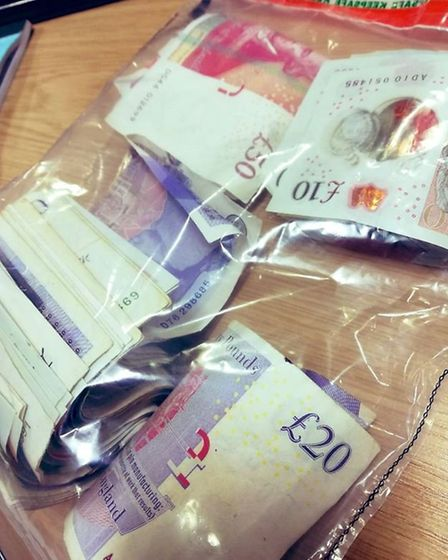A man was arrested in Norwich for possession of class A drugs after he was found to be carrying a wr