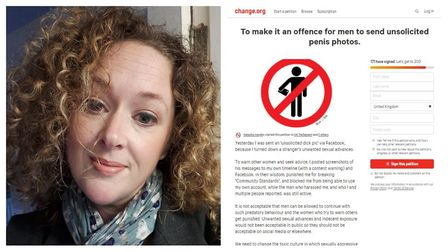 Natasha Harpley, 39, has launched a petition to make it illegal to send unsolicited explicit photos.