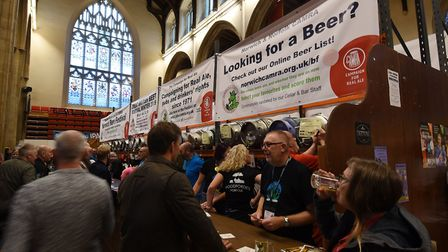 This will be the last time to attend the Great British Beer Festival Winter in Norwich. Pictured is