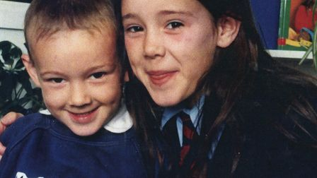Kerri McAuley with her brother Rory McAuley. Picture: courtesy of McAuley family