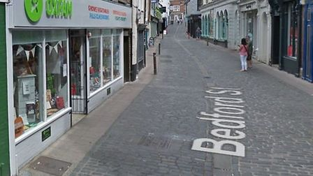 Anthony Hills admitted stealing from the Oxfam store on Bedford Street in Norwich. Picture Google.