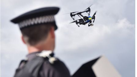 The police drone. Photo: Norfolk police