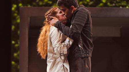 Karen Fishwick and Bally Gill as Juliet and Romeo in the Royal Shakespere Company's Romeo and Juliet