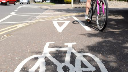 The number of crashes involving cyclists on Norwichs roads has fallen, down from 130 in 2016 to 100