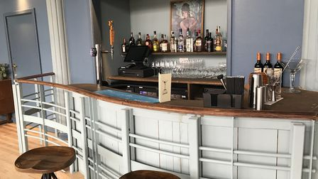 The bar in the new upstairs area at the Bowling House. Pic: Ella Wilkinson