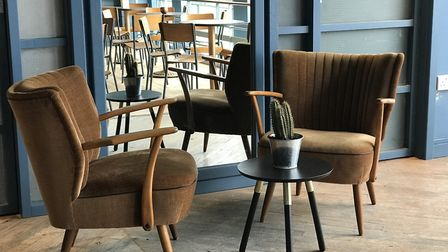 Seating in the new upstairs area at the Bowling House. Pic: Ella Wilkinson