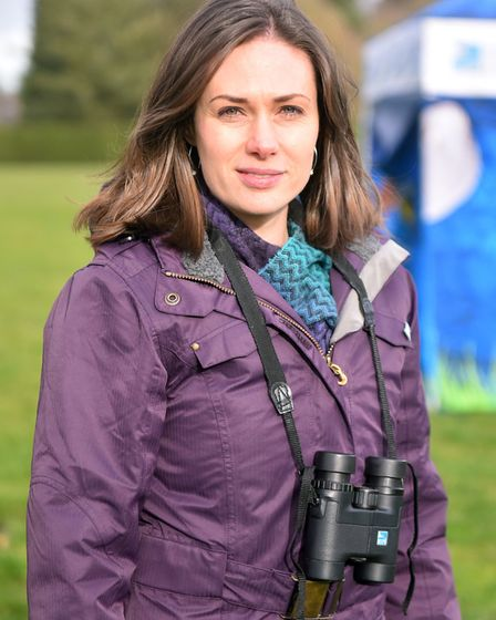 Springwatch presenter Lindsey Chapman at the Biggest Birdwatch event at Waterloo Park, Norwich. PICT