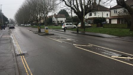 The spot on Earlham Road where a woman and 12-year-old girl were hit by a minibus. Picture: Dominic