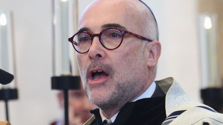 Rabbi Roderick Young of the Norwich Hebrew Congregation speaks at the Holocaust Memorial Day Service