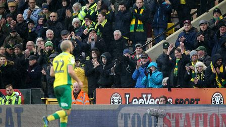 Teemu Pukki is applauded off the Carrow Road pitch, after another match-winning contribution for Nor